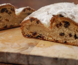 Stollen - Rich Fruit Bread Filled With Marzipan