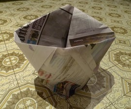How to Make a Bin-liner Out of Newspaper