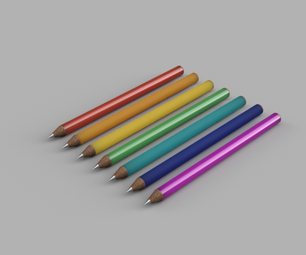 Create a Set of Rainbow Pencils in 10 Mins Using Fusion 360