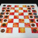 Chess/Checker Set from Remnant Marble/Tile and Duct Tape...Pick Your Color!