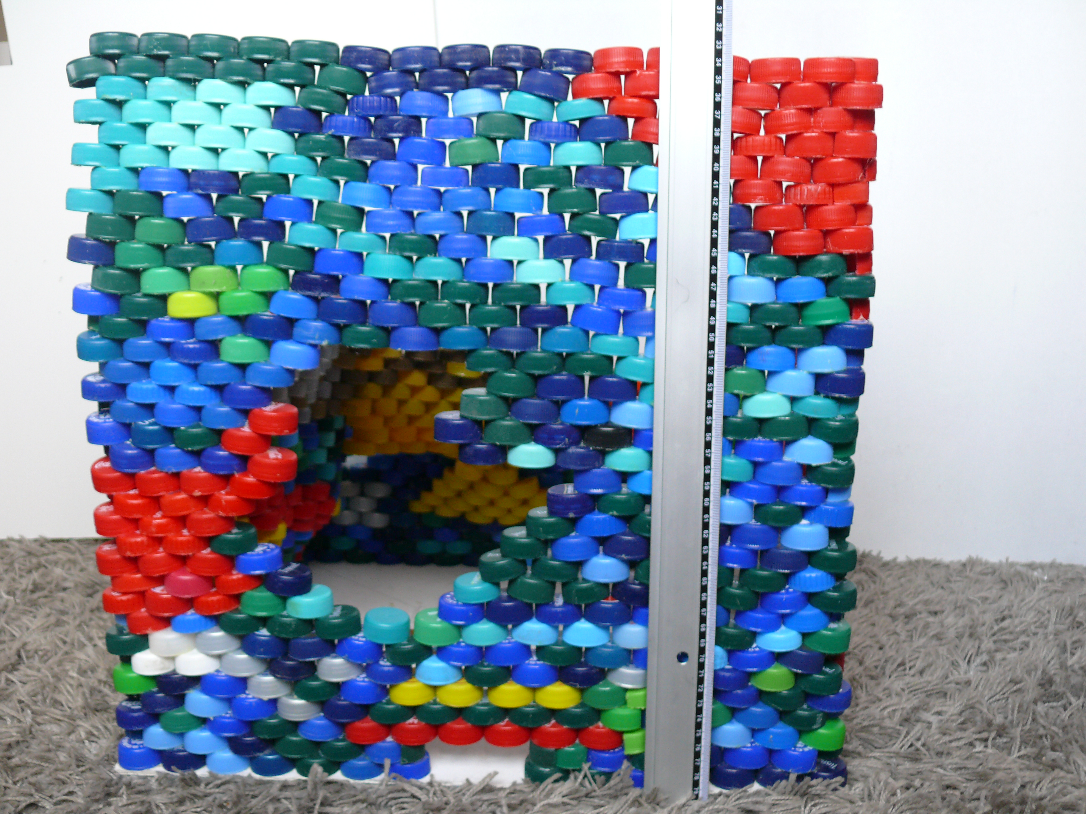 Picture of Lamp Made Out of 2177 Plastic Bottle Caps
