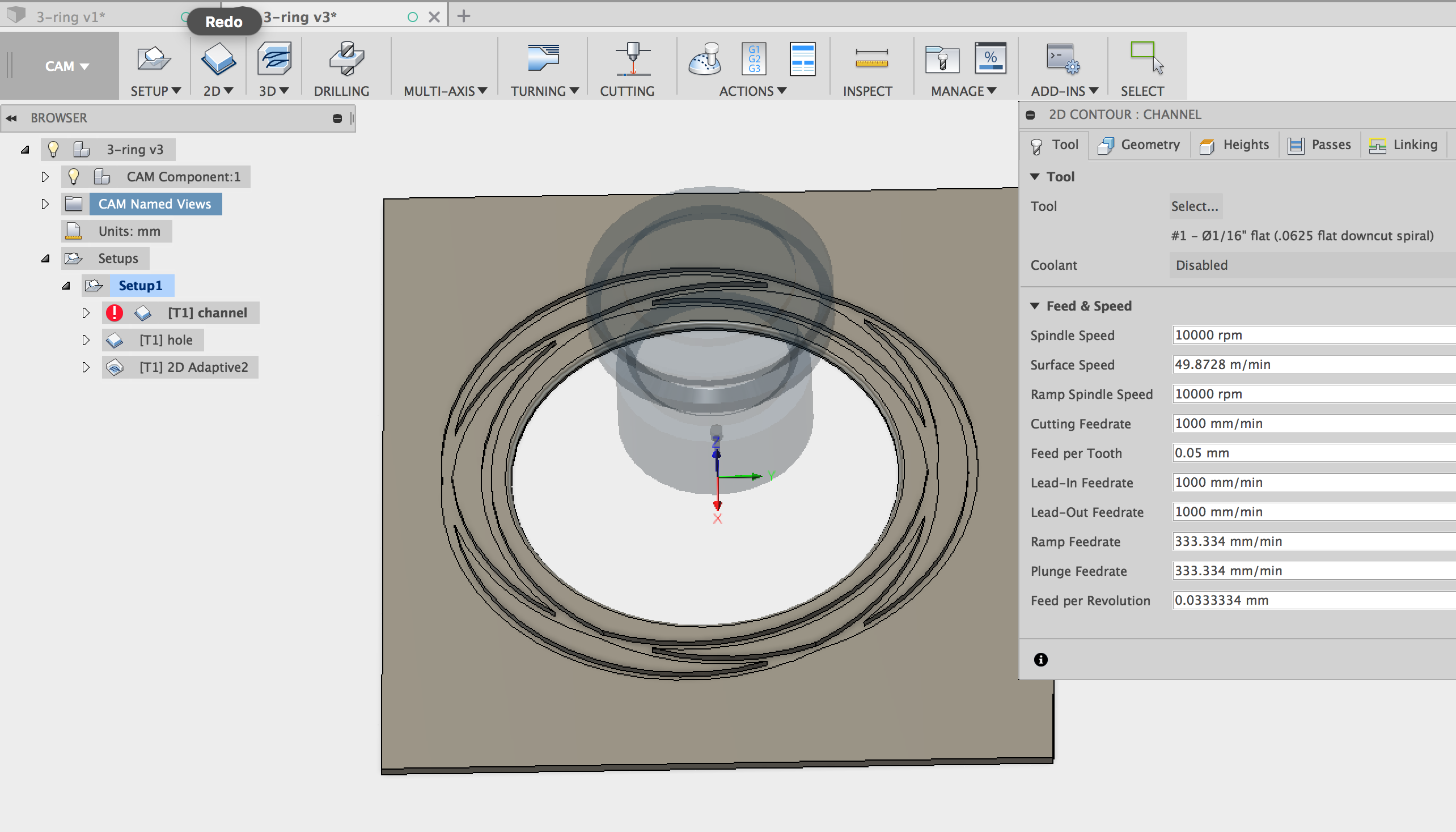 Picture of Create Tool Path for the CNC to Cut the Rosette Channel
