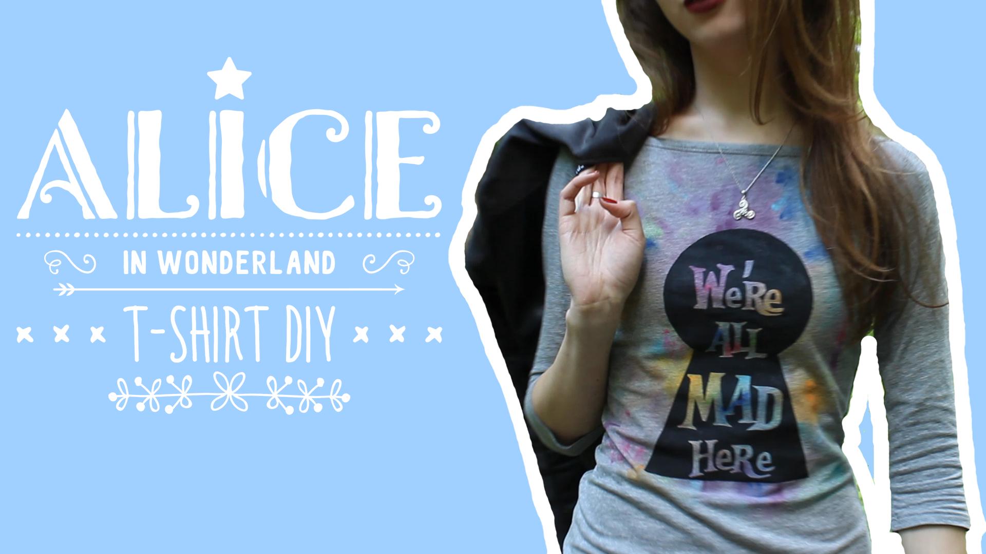 Picture of T-Shirt Alice in Wonderland DIY