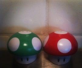 Mario Mushroom Salt&Pepper Shaker's