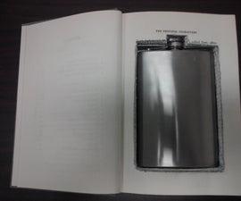 Flask hidden in a book