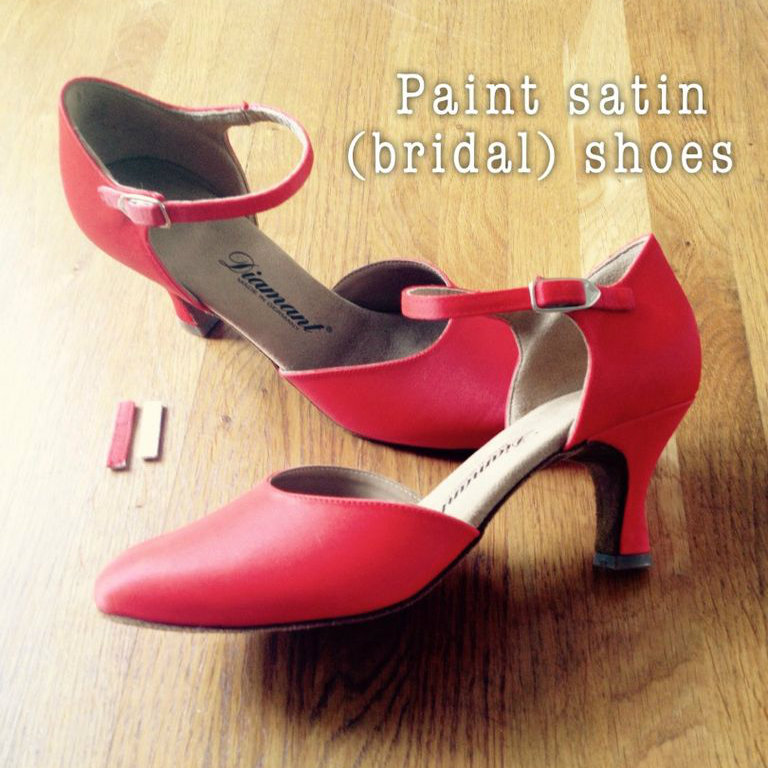 Picture of Paint Satin (Bridal) Shoes in Any Color You Want!