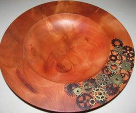 Steampunk Wooden Bowl