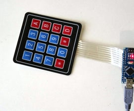 Arduino Nano: Matrix Keypad with Visuino