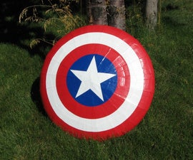 Flying Captain America Shield
