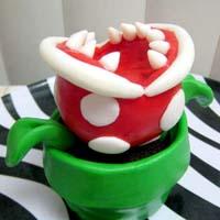 Piranha Plant Cupcake