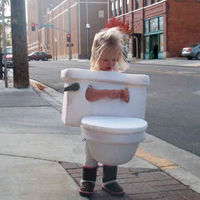 Toddler Toilet Costume