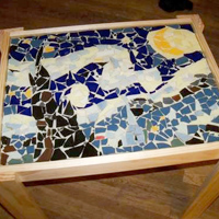 Starry Night Mosaic Table