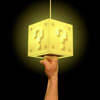 Super Mario Coin Block Lamp