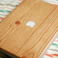 Wood Grain Laptop Wrap